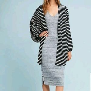 Anthropologie Roffe striped cocoon cardigan